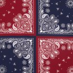 Paisley Scarf Red